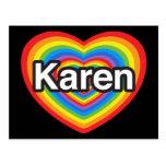 I love Karen. I love you Karen. Heart Post Cards