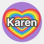 I love Karen. I love you Karen. Heart Sticker