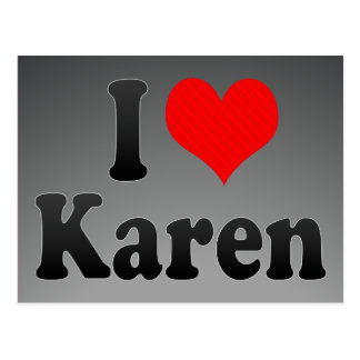 I love Karen Postcard