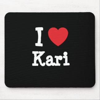 I love Kari heart T-Shirt Mouse Mats