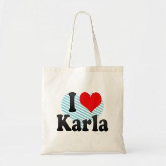 I love Karla Tote Bags