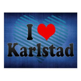 I Love Karlstad, Sweden Postcard