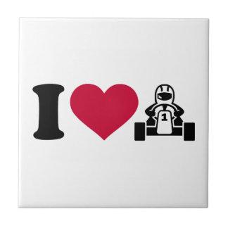 I love Kart racing Ceramic Tile