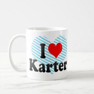I love Karter Classic White Coffee Mug
