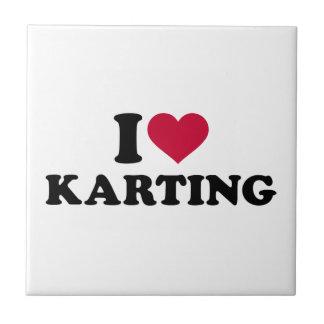 I love Karting Tile