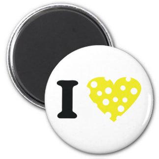 I love käse icon 2 inch round magnet