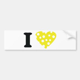 I love käse icon bumper sticker