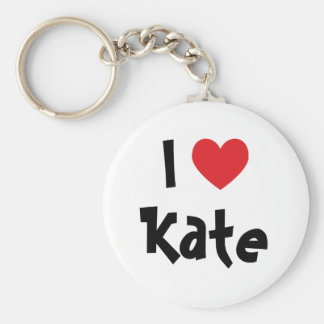 I Love Kate Keychain
