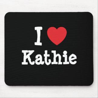 I love Kathie heart T-Shirt Mouse Mats