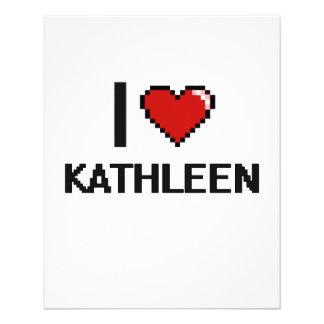 "I Love Kathleen Digital Retro Design 4.5"" X 5.6"" Flyer"