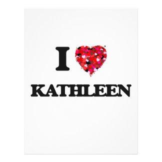 "I Love Kathleen 8.5"" X 11"" Flyer"