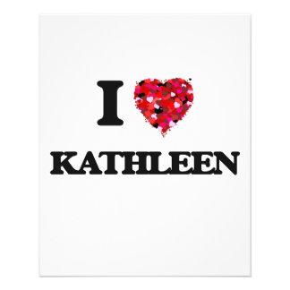 "I Love Kathleen 4.5"" X 5.6"" Flyer"