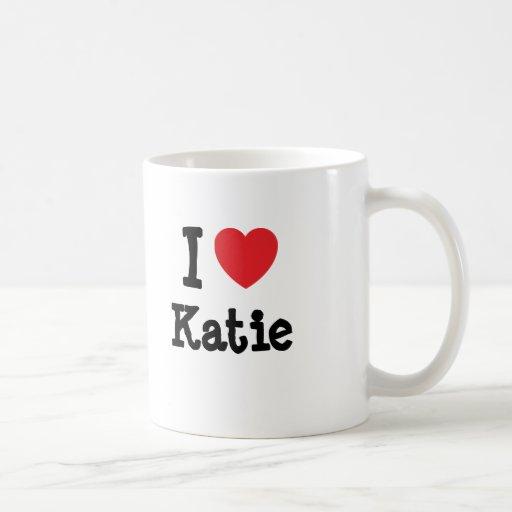 I love Katie heart T-Shirt Classic White Coffee Mug