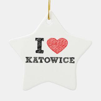 I-love-Katowice Ceramic Ornament