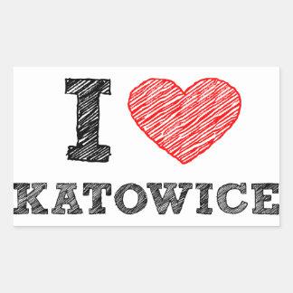 I-love-Katowice Rectangle Stickers