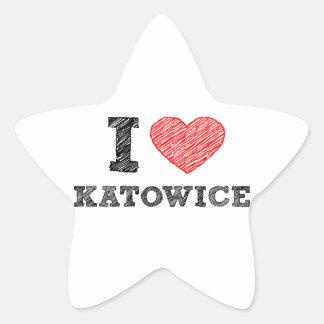 I-love-Katowice Star Stickers