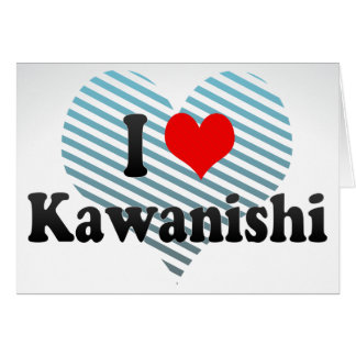 I Love Kawanishi, Japan Card