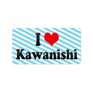 I Love Kawanishi, Japan Personalized Address Labels