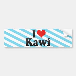 I Love Kawi Car Bumper Sticker