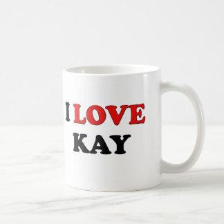 I Love Kay Coffee Mugs