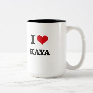 I Love Kaya Two-Tone Coffee Mug