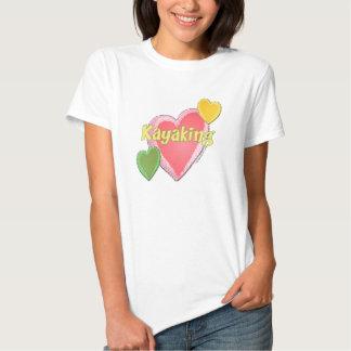 I Love Kayak Hearts Shirt