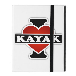 I Love Kayak iPad Folio Case