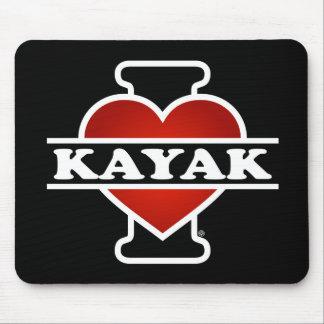 I Love Kayak Mouse Pad
