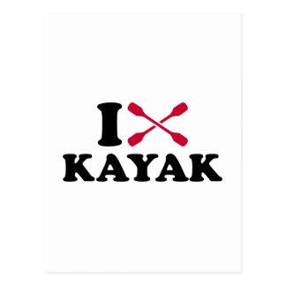I love Kayak Postcard