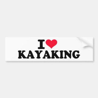 I love Kayaking Bumper Sticker
