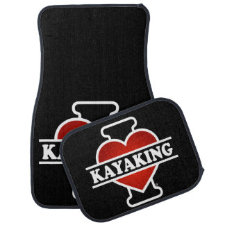 I Love Kayaking Car Mat
