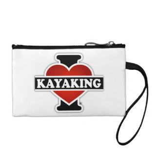 I Love Kayaking Coin Purse