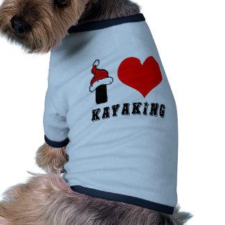 I Love Kayaking Design Dog Tshirt