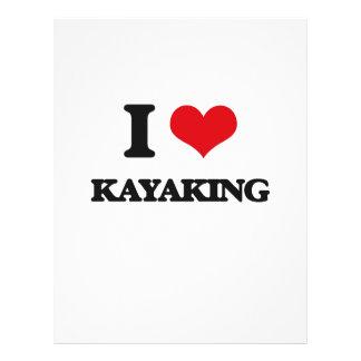 I Love Kayaking Custom Flyer