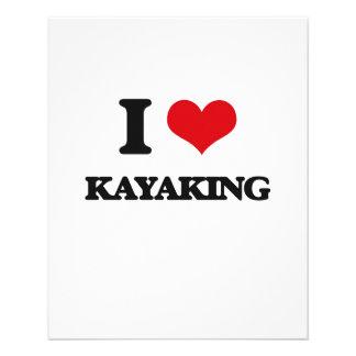 I Love Kayaking Flyers
