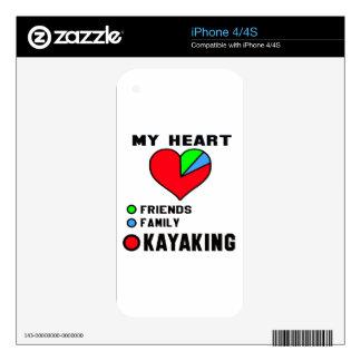 I love Kayaking. iPhone 4 Skins