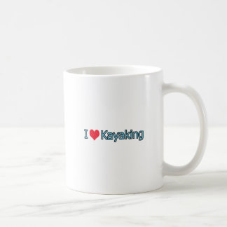 I Love Kayaking Logo Coffee Mug
