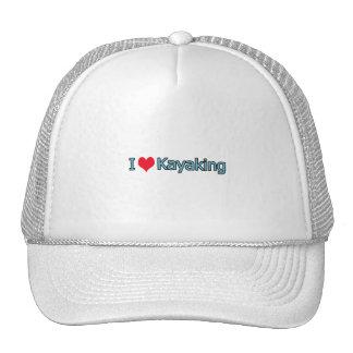 I Love Kayaking Logo Trucker Hat