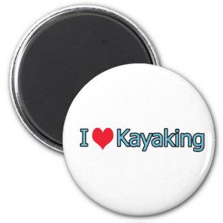 I Love Kayaking Logo Fridge Magnet