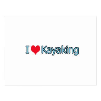 I Love Kayaking Logo Postcard