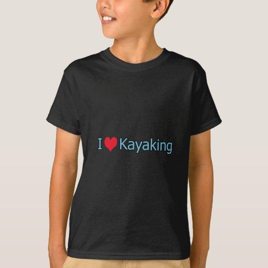 I Love Kayaking Logo T-Shirt