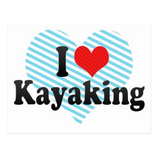 I Love Kayaking Postcard