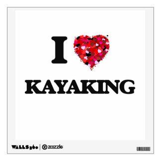 I Love Kayaking Room Stickers
