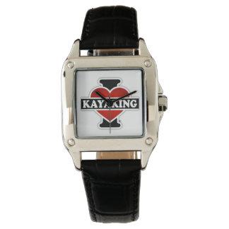I Love Kayaking Wrist Watch