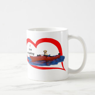 I love kayaking (yellow lab) 1 classic white coffee mug