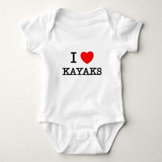 I Love Kayaks Baby Bodysuit