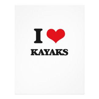 I Love Kayaks Full Color Flyer