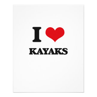 I Love Kayaks Personalized Flyer