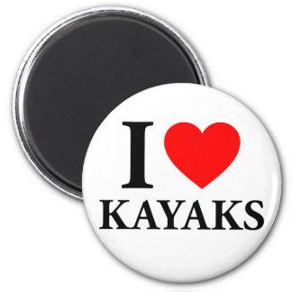 I Love Kayaks Magnets