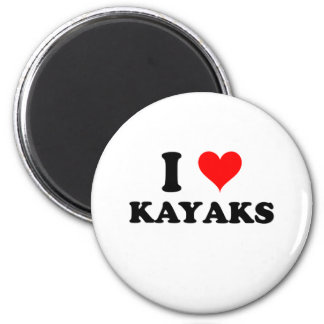 I Love Kayaks Magnet